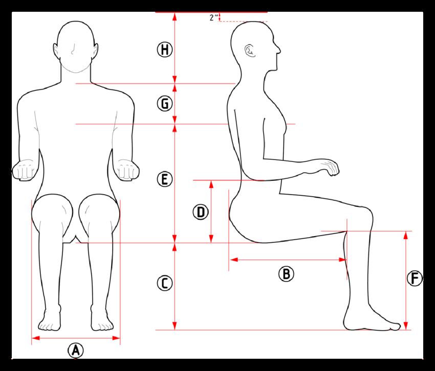Sitting human diagram